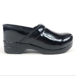 Dansko Professional Patent Leather Clogs Shoes
